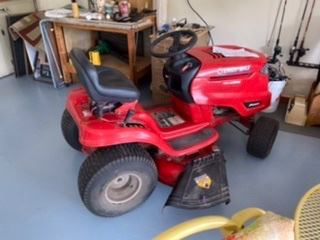 Riding law mower available for bids