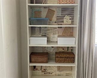 Ikea 6 shelves book cases 60.00 each with decor/  2 no decor they are 40.00 each