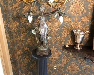 Very large Newel post lamp
