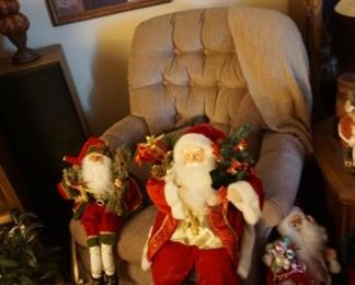 chair with Santa