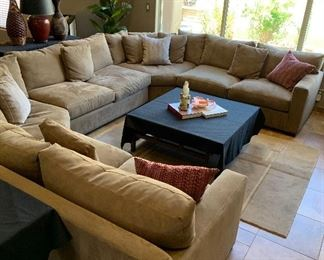 Crate & Barrel Sectional Sofa (Coffee Table NOT FOR SALE)