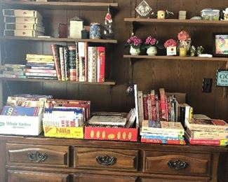 Cook books galore. 75 cents to $3... Furniture books are on available also. Has glass top.