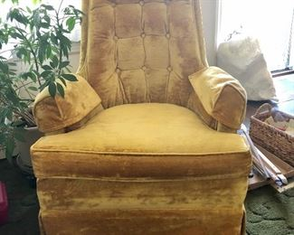 Gold velour chairs (2)
