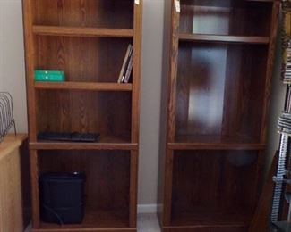 pair bookcases