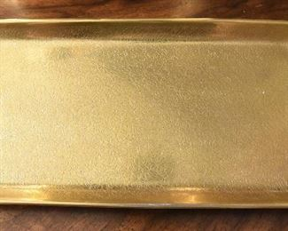 """Pickard Gold Flowers Tray  $25 10.5"""" x 5"""" x .74"""". Excellent condition"""