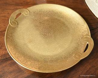 "Pickard gold flowers Plate  $22 7.75"""