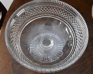"""Waterford Footed Bowl  $65 7"""" diameter, 5.75"""" Tall"""