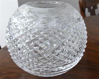 """Waterford Rose bowl  $30 6"""" globe"""