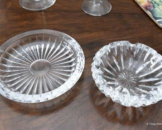 Val St Lambert ashtrays $5 each