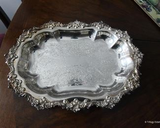 """Towle Silver Plate Small Platter or Tray $20 11.5"""" x 8.5"""" x 2"""" Deep"""