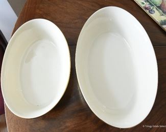 """Lenox Vegetable Bowls $24 8.5"""" and 10"""" mint condition"""