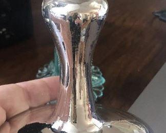 "Antique mercury glass single tieback $12 3.75"" wide, 4.5"" tall"