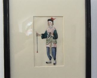 """Pair Chinese Paintings $38 OD of frames approximately 12"""" x 14"""""""