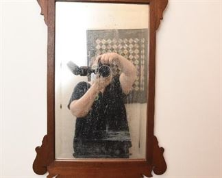 """Large, wood frame mirror  $65 Approximate size 24' wide 30"""" tall"""