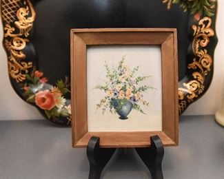 """Small Floral Painting  $25 Approximate size 3"""" x 5"""""""