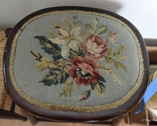 ""\Needlepoint Stool  $30 Approximate footprint 16"""" x 16"""", seat height 30""""""325|260|?|en|2|49d3bcf19795871e73cc625efc2f322c|False|UNLIKELY|0.33018651604652405