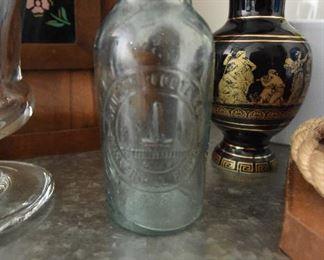 Late 1800s Bunker Hill Pickles Bottle $15