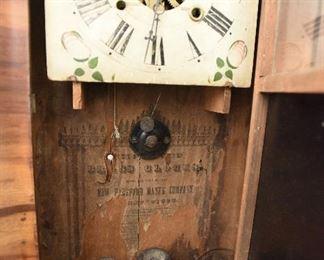 """Case clock with reverse painted door $40 25"""" x 15 x  5"""