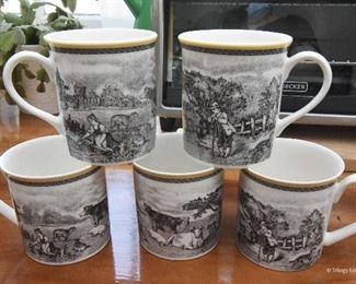 Lot of 5 Villeroy & Boch Audun Ferme Coffee Mugs  $50