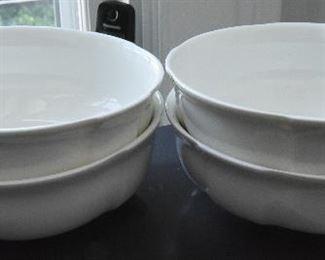 Lot of 4 Haviland Limoges White Bowls $40