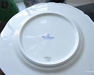 Lot of 5 Haviland Limoges White Salad Plates $50