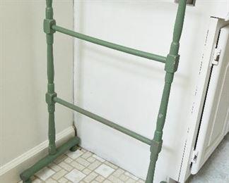 Green Wood Towel Rack  $22