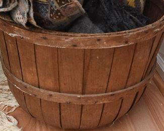 Vintage Oak Splint and Bentwood Handles Large Basket  $85