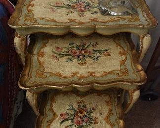 Set of Three Vintage Nesting Tables $85