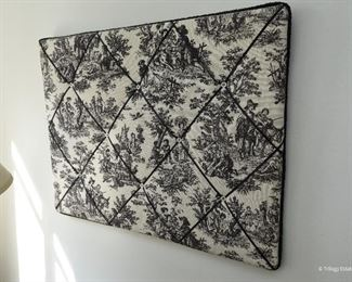 Toile Bulletin Board $12 Approximately 18x24