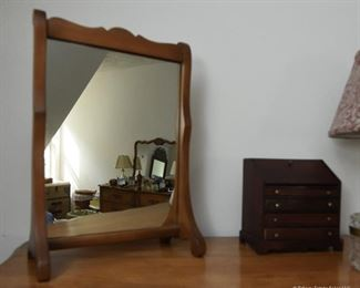 """Vanity Mirror $18 Approximately 14"""" tall, 12"""" wide"""