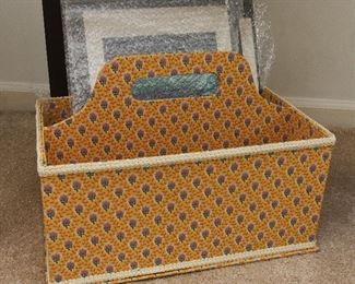 Fabric Covered Meida Caddy or Knitting Basket  $22