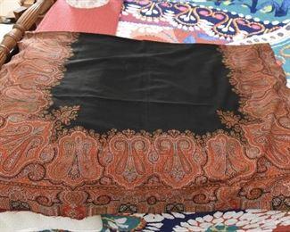 Scottish Paisley Wool Shawl/Throw  $45 Approximately 6' x 4'. Unfinished edges