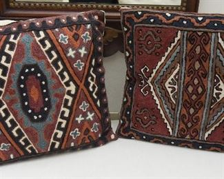 """Pair Pillows  $55 Approximately 18"""" x 18"""" each"""