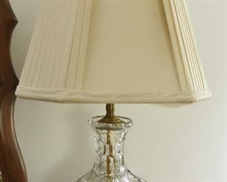 Cut Glass Lamp $45