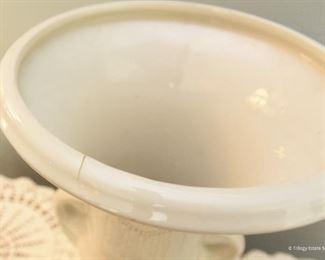 """Large ceramic Urn  $22 manufacturing defect crack in lip. 13"""" tall, 8.5"""" wide"""