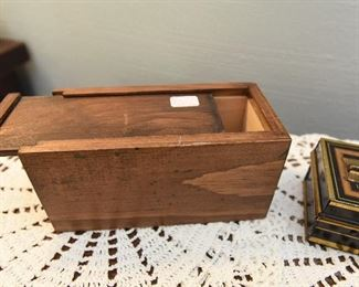 "Wood box with sliding top  $8 6"" x 2.825"" x 3"""