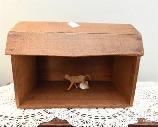 "Vintage Barn Toy  $40 13"" x 7.5"" x 8.5"" tall"