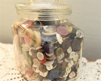 "Button Jar  $24 6"" x 5"" x 7"""