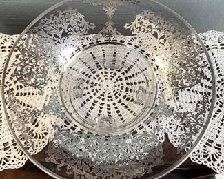 Silver Overlay Footed Bowl  $15