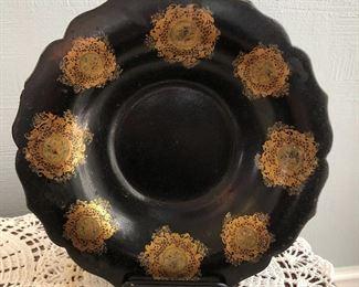 """Papier Maché Plate $45 Approximately 9"""" diameter"""