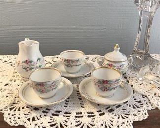 9 piece tea set  $9