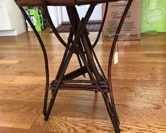 "Adirondack Twig Table  $35 12"" x 12"" x 17"""