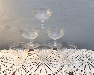Set of Six Sherbet Bowls  $30
