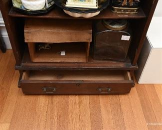 "Open cupboard  $55 (Doors missing) 26.75"" wide, 9"" deep, 37"" tall"