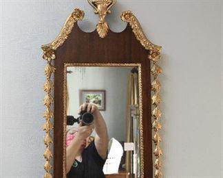 "Antique Gilt Mirror  $65 32"" tall, 15"" wide"