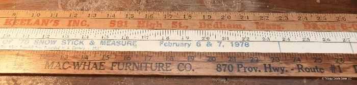 Three Vintage Yardsticks $15