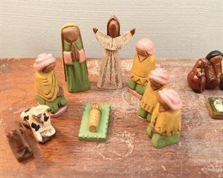 Yellow/Green Nativity Set $15 Made in Ecuador