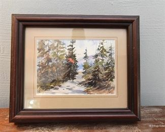 Watercolor of a Cardinal $15 Approximately 5x7. Signed Edythe Ghen