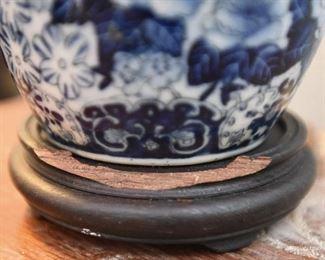 Blue Chinese Import Vase Lamp $35