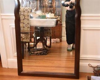 Mahogany Carved Shell Mirror  $45